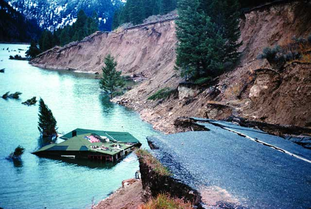Danau karena gempa bumi