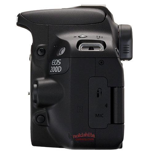 Canon EOS 200D, вид слева