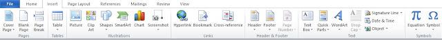 Mengenal Fungsi Menu Insert Pada Microsoft Word