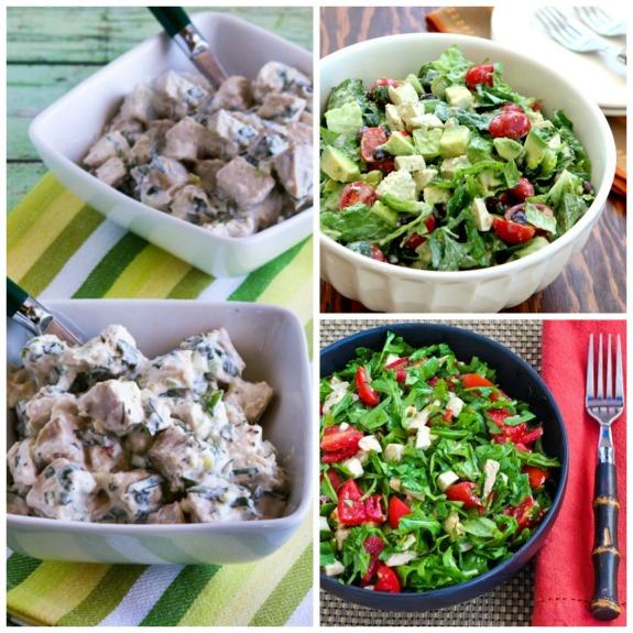 20 Low-Carb Beat-the-Heat Chicken Salads to Make from Rotisserie Chicken found on KalynsKitchen.com