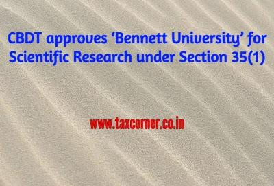 cbdt-approves-'bennett-university'-for-scientific-research-under-section-35-1