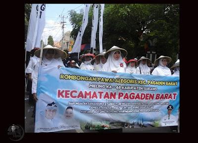 Pawai Alegoris dari Kec.Pagaden Barat Meriahkan HUT Kabupaten Subang ke-68