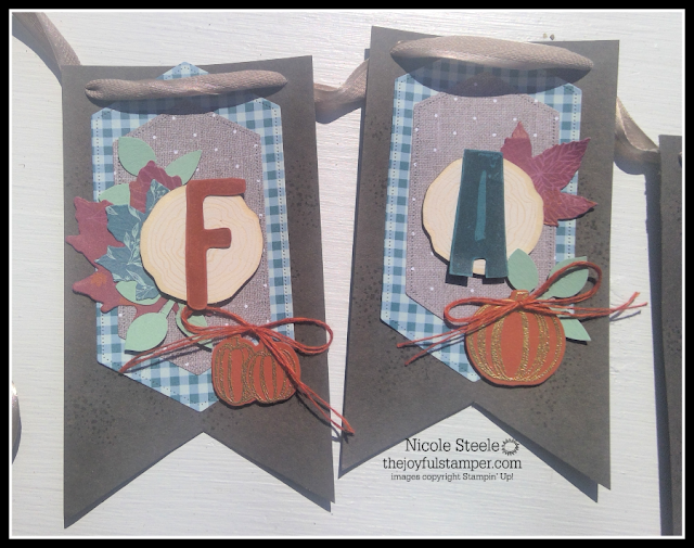 """F"" and ""A"" of Gather Together fall banner by Nicole Steele The Joyful Stamper"