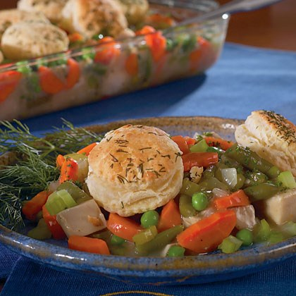 Chicken Potpie with Dill Biscuit Topping Recipe