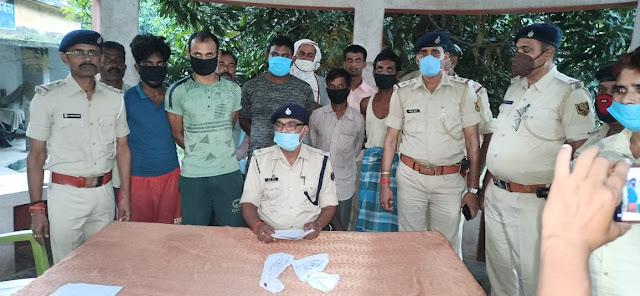 वर्चस्व जमाने हेतु हत्या की योजना बना रहे पांच अपराधियों को पुलिस टीम ने किया गिरफ्तार