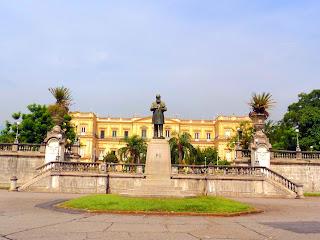 Palácio de São Cristóvão abriga o Museu Nacional do Rio de Janeiro
