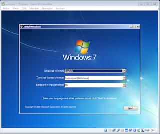 Cara Install Windows 7 Dengan VirtualBox