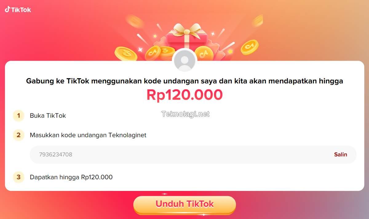 Cara Dapat Uang dari TikTok (tiktok.com)