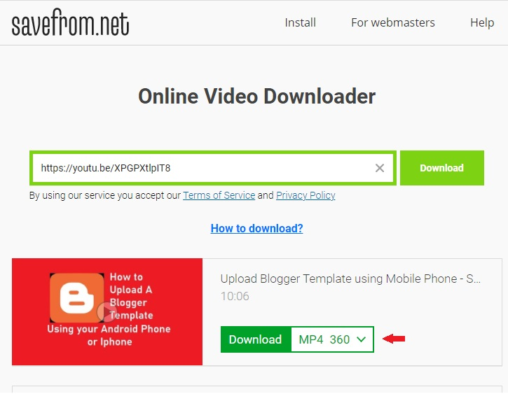 Download Any Video from Youtube