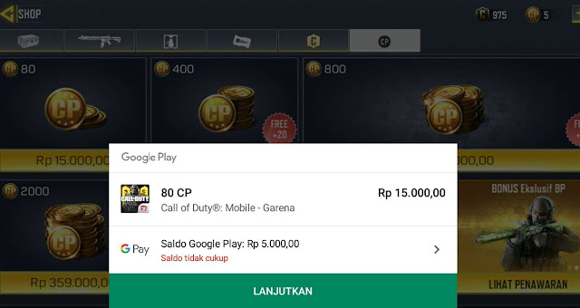 Cara Top Up CP Call Of Duty Mobile Lewat Indomaret