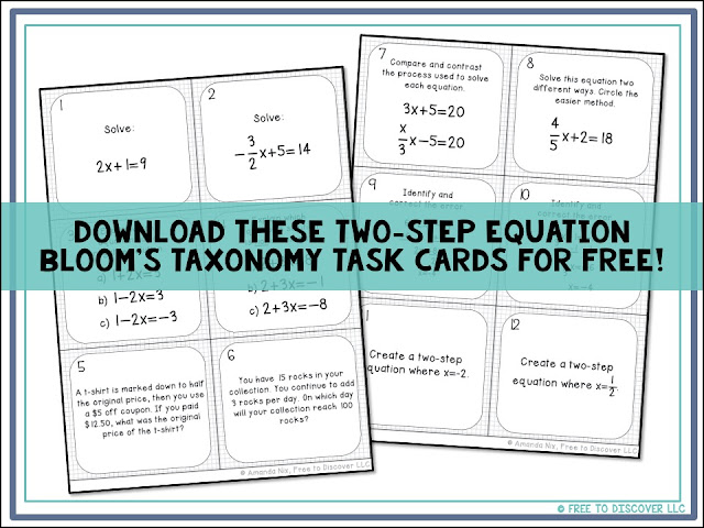 Free Download of Task Cards