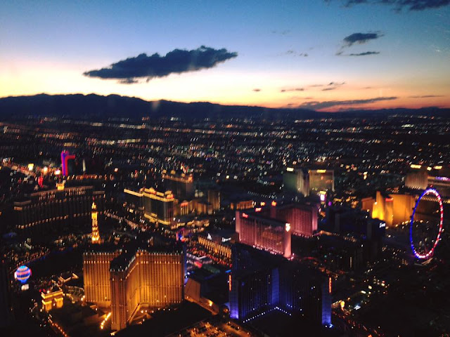Helicopter tour over the Las Vegas strip