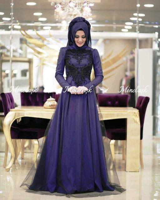 Inspirasi Gaun Muslimah Cantik dan Trendy 2001612