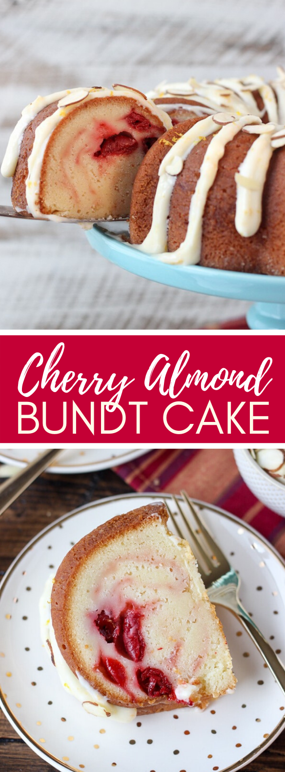 Cherry Almond Bundt Cake #desserts #traditionalrecipe