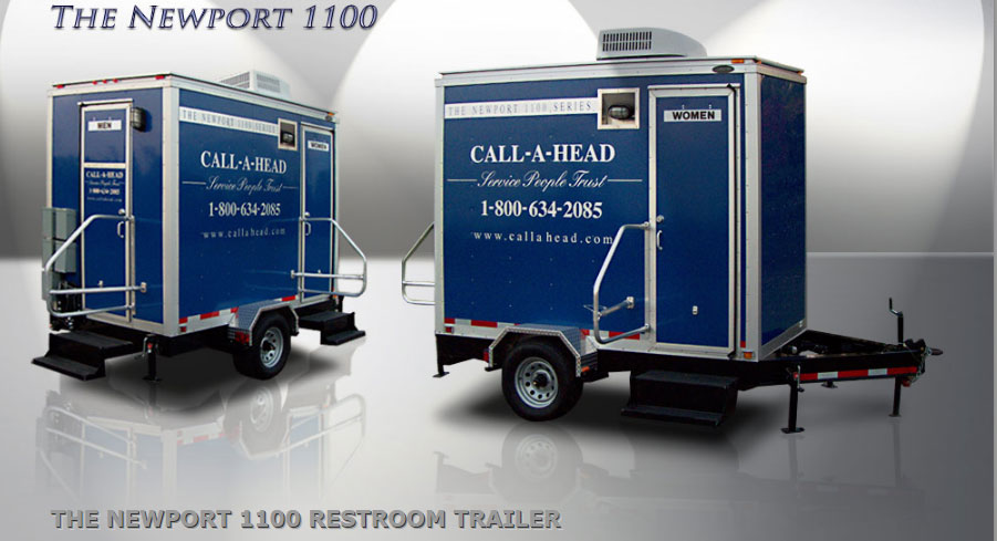 Portable toilet porta potty port o potty portable for Portable bathroom trailers