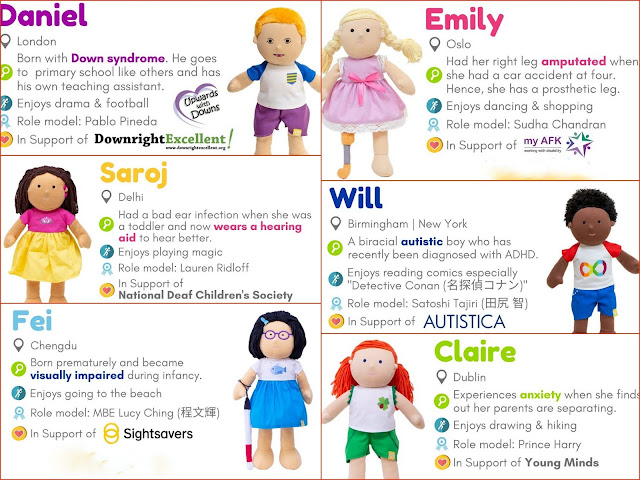 Dolls For All Disability Crowdfunder range visually impaired disabled dolls