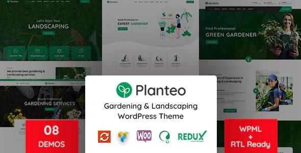 Gardening and Landscaping WordPress Theme