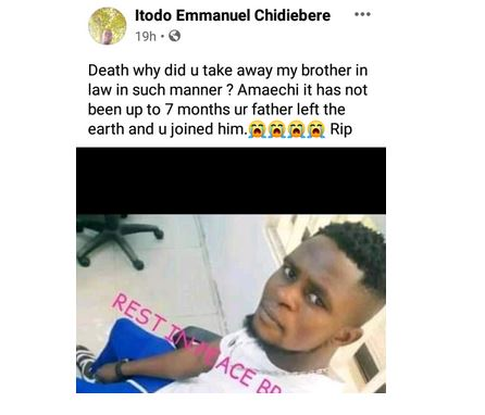 Sad! Young Nigerian man Slumps and Dies While Taking His Bath