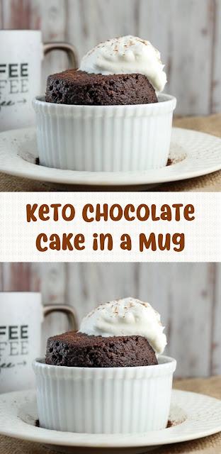 Keto Chocolate Cake in a Mug