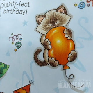 Purr-ect Birthday Card by May Guest Designer Jeannean Marshall | Newton's Birthday Bash Stamp Set by Newton's Nook Designs #newtonsnook #handmade