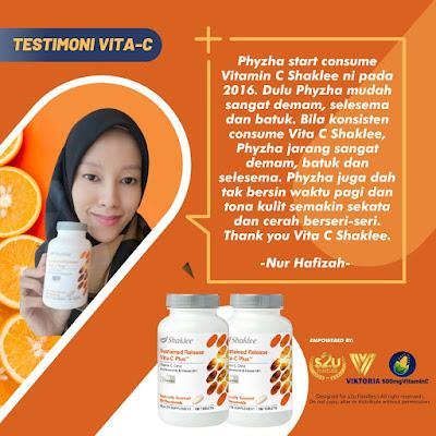 Testimoni Vitamin C Shaklee Untuk Kuatkan Sistem Imun