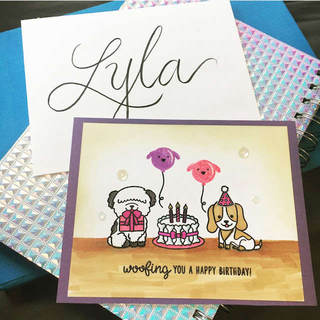 Sunny Studio Stamps: Party Pups Customer Card by Kate