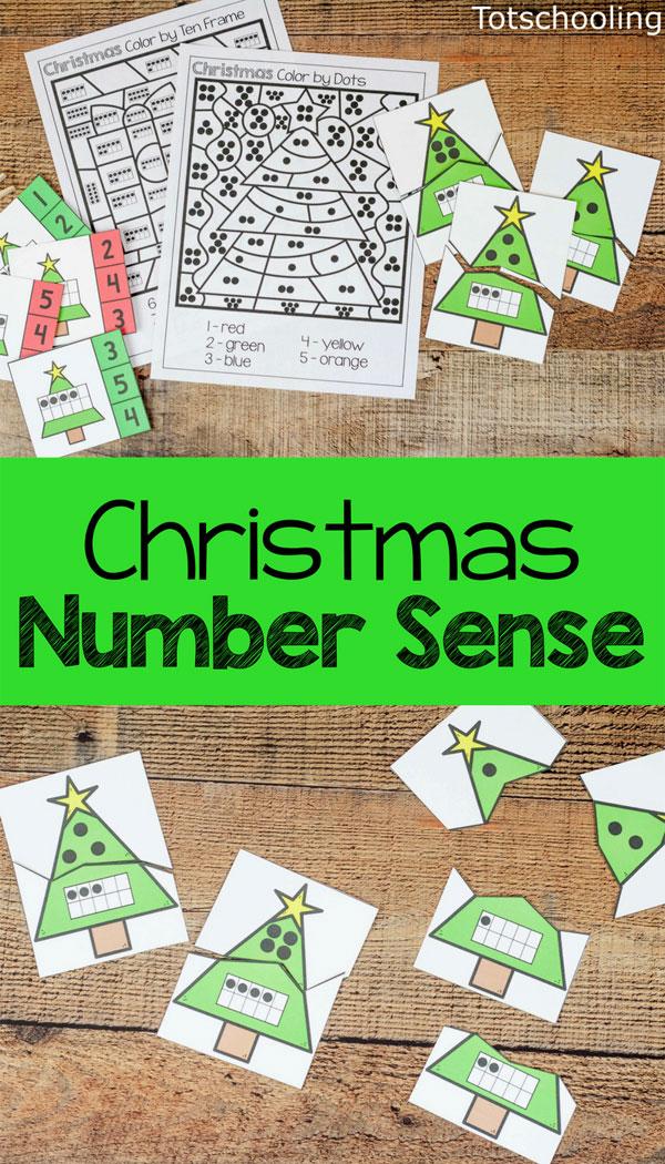Christmas Number Sense Printables Totschooling - Toddler