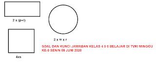 SOAL DAN KUNCI JAWABAN KELAS 4 5 6 BELAJAR DI TVRI MINGGU KE-9 SENIN 08 JUNI 2020