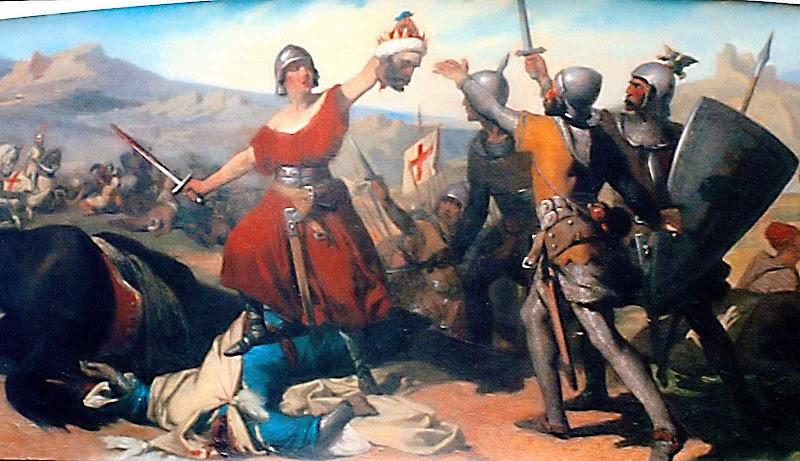 Representação da batalha da ponte de Ledea, ou de Olast. Prefeitura de Urzainqui (Navarra)