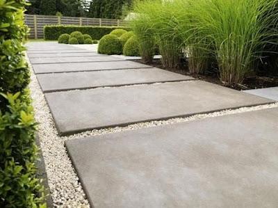 бетон двора