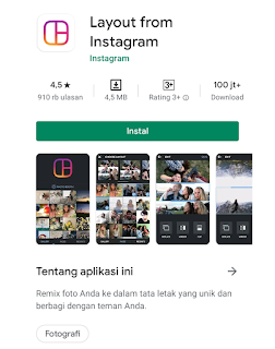 Aplikasi layout from Instagram