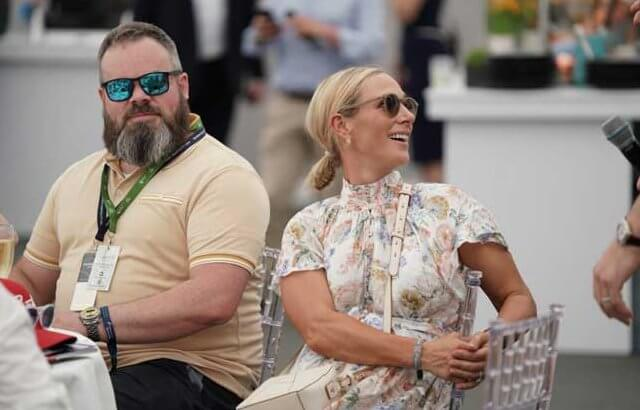 Zara Tindall wore a new belted mini white floral printed dress by Zimmermann