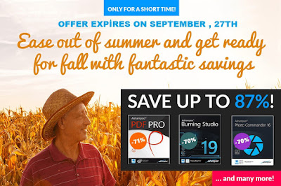 Ashampoo end of summer sales event, discount coupon codes