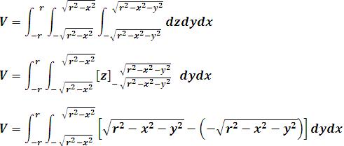 Integración de la variable interior z