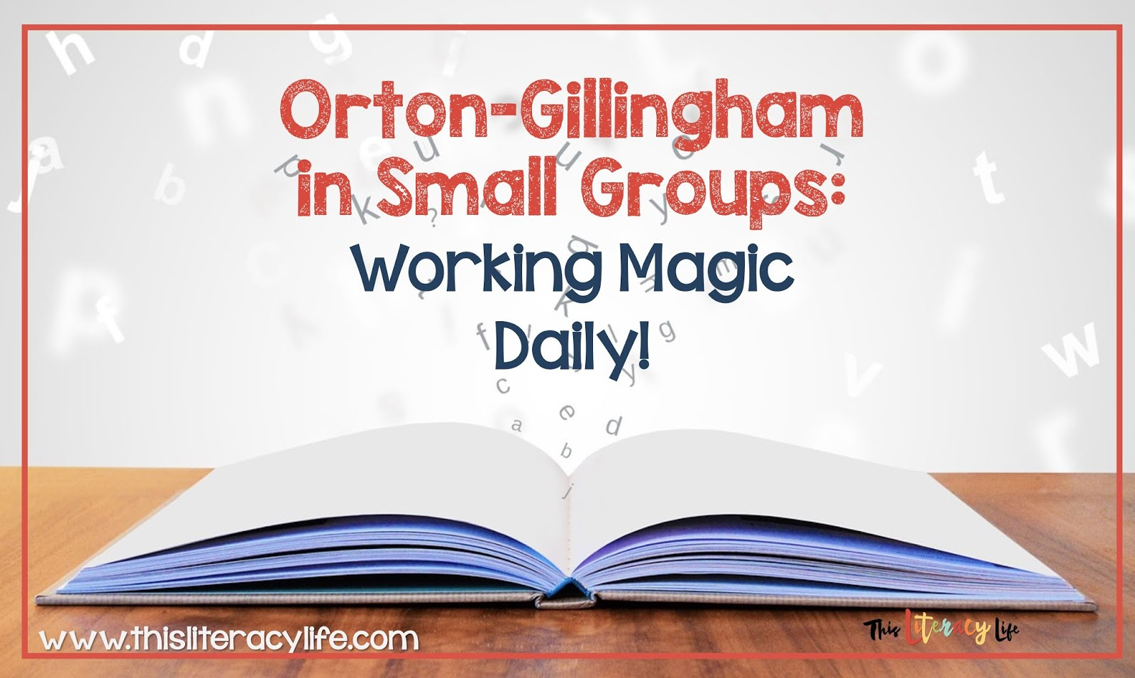 Teaching students with the Orton-Gillingham method helps students learn and use phonics skills to decode words. Small group instruction with OG can help all students succeed with reading every day.