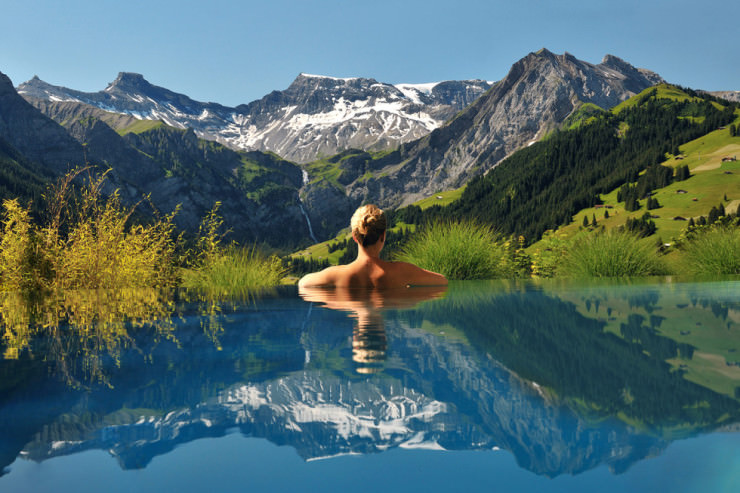 29 Most Amazing Infinity Pools in Pictures - The Cambrian Hotel, Adelboden, Switzerland