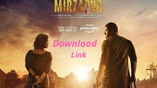 Mirzapur Season 2 Download link Leked by TamilRokers