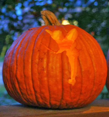 Tinker Bell - pumpkin carving for Halloween :: All Pretty Things