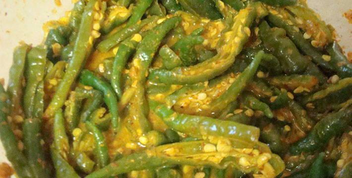 हिरव्या मिरचीचे लोणचे- पाककला | Green Chilly Pickle - Recipe