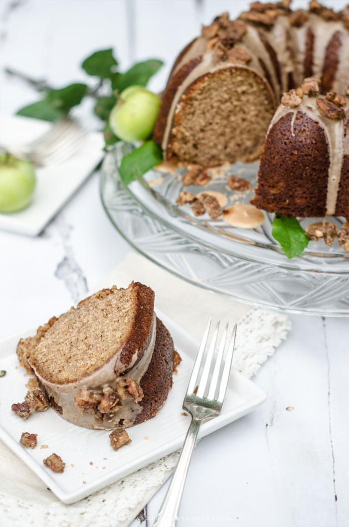 Slice of Apple Cider Pound Cake