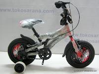 1 Sepeda Anak AXXILO 1209 Big Power Ocean 12 Inci