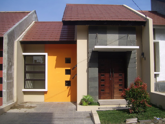 contoh gambar teras rumah type 36