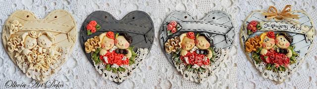 Serduszka ślubne :D Malowanie w 4 krokach :)