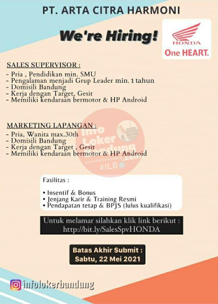 Lowoangan Kerja PT. Arta Citra Harmoni ( Aceh Motor ) Bandung Mei 2021