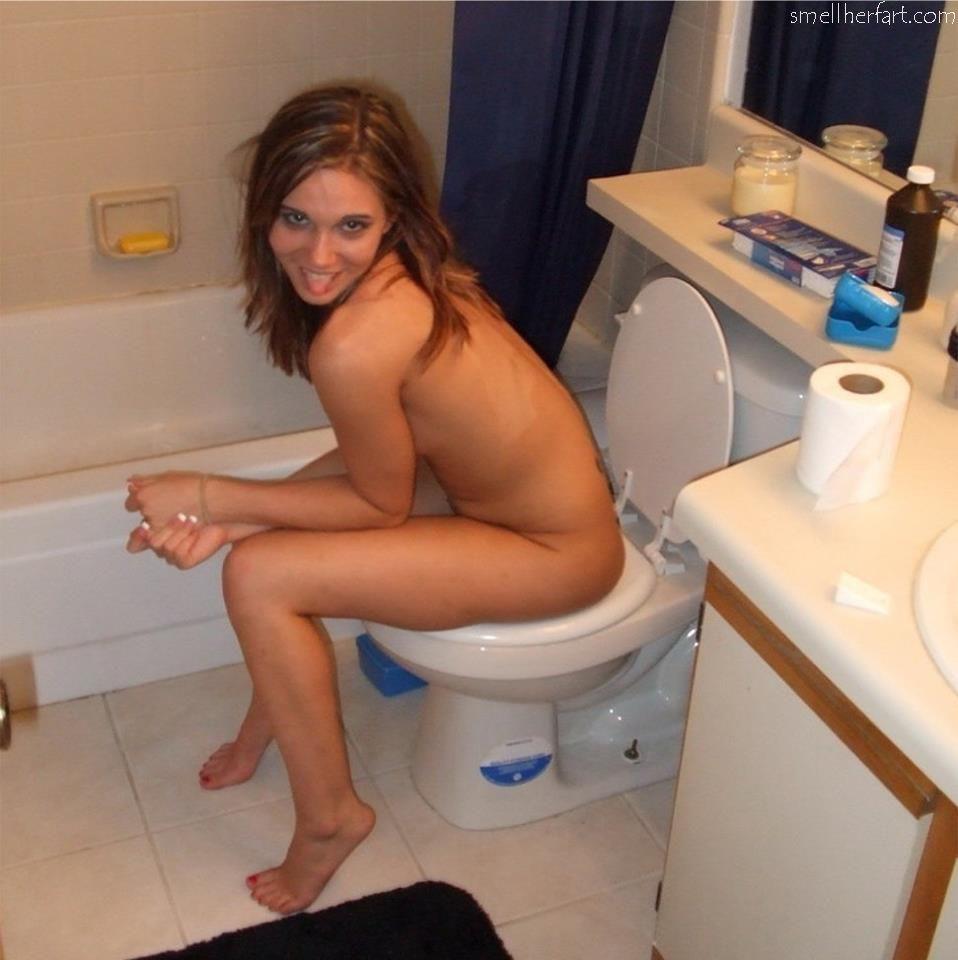 beautiful girls on the toilet