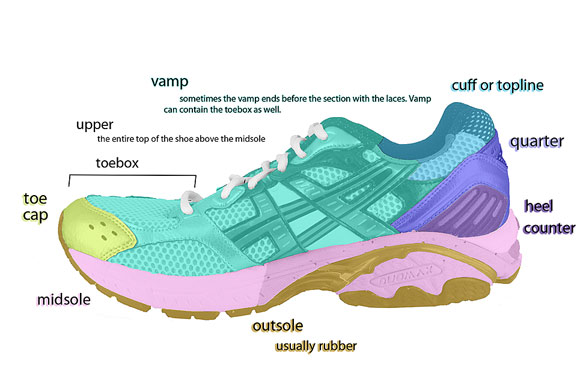 diagram of running shoes diagram of running