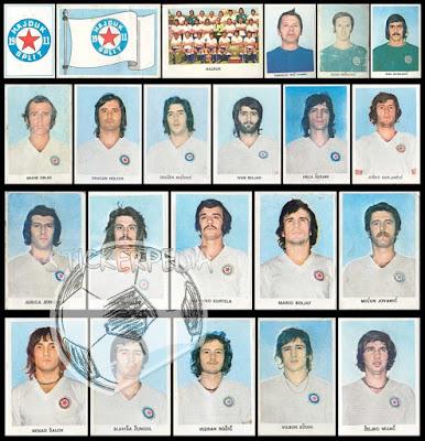 Hajduk Split album sličice Fudbaleri i Timovi 1974/75