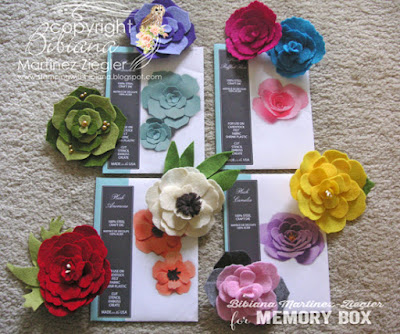 flower pins in felt supplies