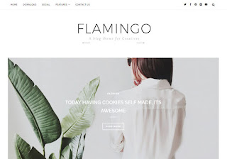 Flamingo Blogger Template