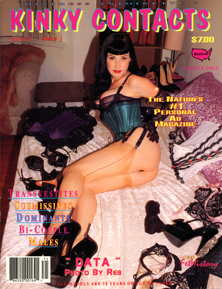Dita Von Teese, Kinky Contacts magazine, v. 17, n.1